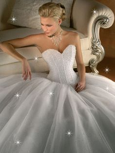 Sexy white wedding dress with a corset top. You'd be a princess bride in a wedding dress like this :-) Princess Wedding Dresses, Dream Wedding Dresses, Wedding Gowns, Wedding Band, The Bride, White Ball Gowns, Dream Dress, Bridal Gowns, Marie
