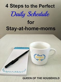 Create a productive daily schedule that is perfect for you as a stay-at-home-mom! Just follow these 4 easy steps.