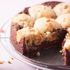 Gâteau cookies au chocolat (adapter avec Pb2 et beurre de cacahuète)