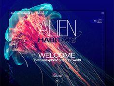 Alien habitats unexplored website concept. by Thomas Olofsson