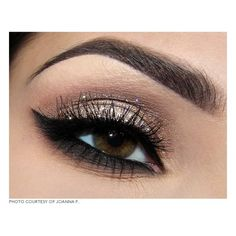Eyeshadow   ❤ liked on Polyvore - New Year's Eye makeup #Gold #Sparkle