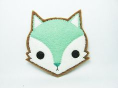 Fox Felt Pin - etsy store has some really cute and unique felt items.