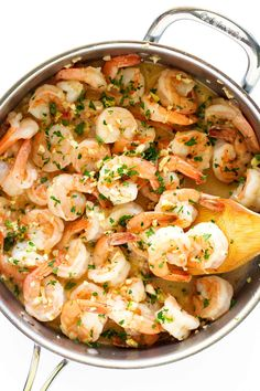 These garlic butter shrimp are packed and loaded with flavor. The shrimp cooked in a delicious buttery garlic sauce that captivates your tastebuds.