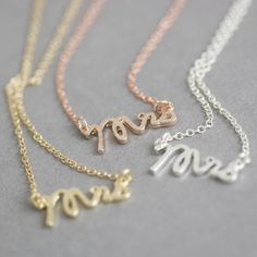 'Mrs' Honeymoon Necklace - a perfect gift for a bridal shower / hen party or for your bride to be.