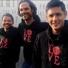 Misha, Jared, and Jensen for LOVE