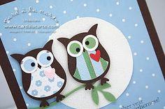 Owl Wedding Anniversary Card
