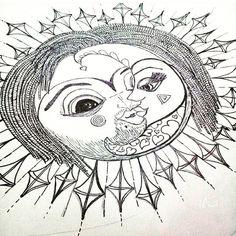 GALA - #redmoon  #serie\#sketch #final  #ornamental #ilustracion #constelaciones #astros #amor #pasion #sun #moon #parejas #sol #solyluna #drawn #drawing #ilustraciones #love #lovely #manoalzada #dibujo  #dibujosalapiz #art #artwork #preview @arcadiawall #illustration #sansalvador  #elsalvador