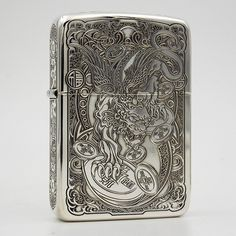 Regular Sterling Silver Brave Troops Zippo Lighter