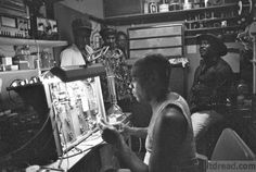 King Tubby in his studio (photo by Syphilia Morgenstierne)