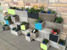 Cinder block planters.