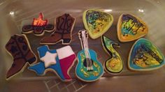 Because at our house... We're a little bit country and a little bit rock n roll :) Aaron and Caleb's bday cookies