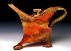 Stone Prancer Teapot by Susan Farrar Parrish-Seth-Tice-Lewis