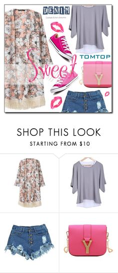 """""""TOMTOP+# 8"""" by janee-oss ❤ liked on Polyvore featuring Converse"""