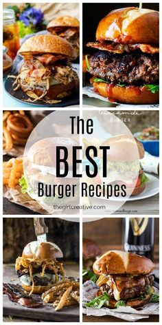 The Ultimate Collection of The BEST Burger Recipes & Hawaiian Burgers & Bacon Cheeseburgers & Messy Manly Food The post The BEST Burger Recipes appeared first on Trendy. Grilled Burger Recipes, Gourmet Burgers, Beef Burgers, Beef Recipes, Mexican Food Recipes, Healthy Recipes, Hawaiian Recipes, Healthy Food, Burger Food