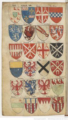 page 48v-«Armorial Le Breton ou Montjoie-Chandon», France, 1292-1295 et 1470-1480…