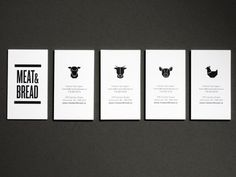 vancouver based sandwich shop: meat & bread business cards.