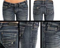 Rock & Roll Cowgirl Rival Low Rise Multi Seam Jeans W6-8471