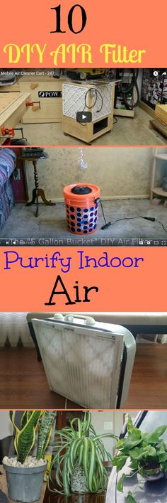 10 DIY Air Purifiers to fight particulate air pollution, dust, smoke, etc. without spending a fortune.