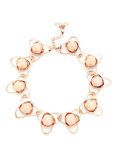 Rose Gold Orbital Necklace by Tuleste Market on Gilt
