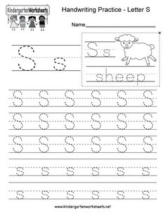 "This is a letter S tracing worksheet. Children can trace uppercase and lowercase letters and the word ""sheep."" You can download, print, or use it online. Handwriting Practice Worksheets, Spelling Worksheets, Science Worksheets, Tracing Worksheets, English Worksheets For Kindergarten, Kindergarten Writing Prompts, Alphabet Writing, Handwriting Alphabet, Spanish Alphabet"