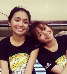 This is Kathryn Bernardo and Miles Ocampo posing for the camera during the 2014 Star Magic Games. They're both amazing talented young ladies and fellow Goin' Bulilit graduates and Star Magic batchmates.
