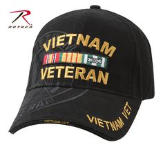 Vietnam Veteran Deluxe Military Low Profile Shadow Cap. Veteran HatsCotton  ... 485beeedc4a1