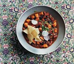 Slow-Cooker Vegetarian Chili With Sweet Potatoes ... And 5 other veg slow cooker recipes, incl several lasagnas