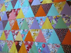 Triangle quilt from couch potatoblogspot