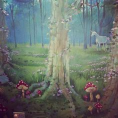Woodland theme mural for nursery
