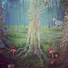 Woodland theme mural for nursery