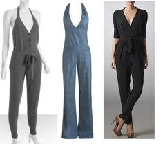 Jumpsuits circa 1970 look just as hot today. Pair with sky high heels if you can (even mid heels work; just stay away from flats - looks too much like pjs). Perfect for summer evenings at an ultra lounge.