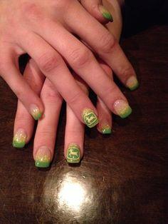 John Deere inspired Gel Nails!!:)