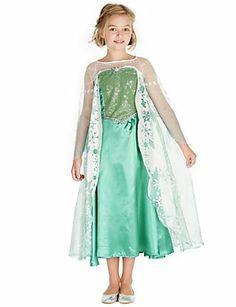 FROZEN FEVER ELSA 14 Ultimate Girl/'s Costume Deluxe Chasing Fireflies Disney