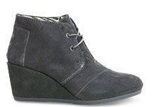 Ohhhhhhhhh I want these!!  Castlerock Grey Suede Women's Desert Wedge Booties