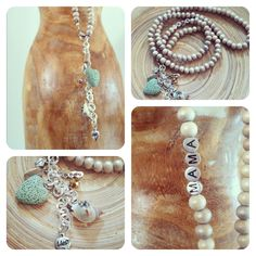 """Ketting Champagne kleur """"Mama"""" - Happy Belly's #zwanger #zwangerschap #mamaketting Bohemian Baby, Hobbies And Crafts, Baby Love, Turquoise Necklace, Pregnancy, Jewelry, Fashion, Accessories, Moda"""