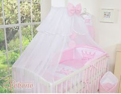 Bedset Little Princess Voile Roze Baby Nursery Bedding, Nursery Bedding Sets, Cot Bedding, Pink Bedding, Baby Mobile Felt, Baby Nest, Baby Baby, Princess Nursery, Swaddle Wrap