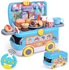 Pretend Play Kitchen, Food Truck Business, Play Food Set, Egg Tart, Kids Birthday Gifts, Toy Kitchen, Preschool Toys, Birthday Cake Toppers, Toys Shop