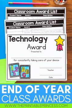 Celebrate the end of the year in style with these school supply themed classroom awards. End of the year awards are a great way to recognize your students and their accomplishments. An editable version is also included for both color and blackline versions. Print or send these digitally to celebrate your students' success!
