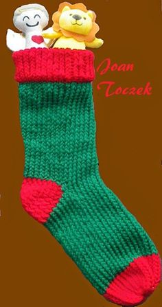 The Loom Knit Knifty Knitter: christmas stocking