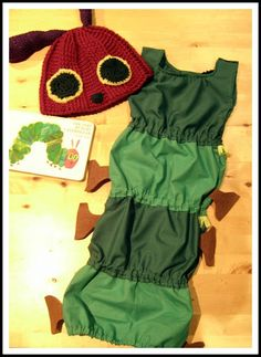 Pin a Very Hungry Caterpillar inspired party outfit - The very hungry caterpillar costume  #WorldEricCarle #HungryCaterpillar