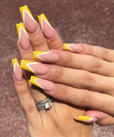 Vtip French Nails Coffin + Vtip Coffin Nails - vtip french nails coffin - Vtip French Nails Coffin + Vtip Coffin Nails – vtip french nails coffin & v - Simple Acrylic Nails, Square Acrylic Nails, Best Acrylic Nails, Summer Acrylic Nails, Square Nails, Summer Nails, Acrylic Nails Yellow, Simple Nails, Aycrlic Nails