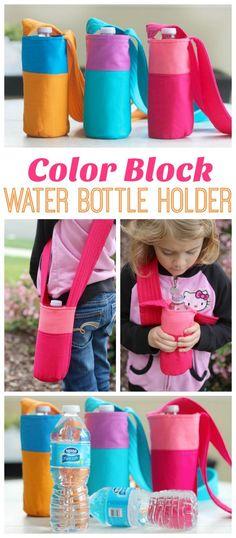 how to sew a kid's Water Bottle Holder Tutorial | Gluesticks