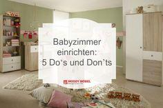 Teppichboden oder doch lieber Parkett? Wo am besten das Babybett platzieren? Wir sagen Ihnen, auf was Sie bei der Gestaltung Ihres Babyzimmers achten müssen und verraten die Do's und Don'ts.