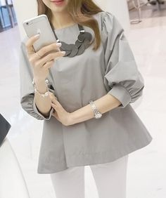Shirts & Blouses Lovely soft balloon sleeve blouse all 5
