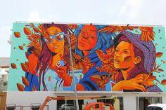 Bicicleta Sem Freio just wrapped up this new piece for Santurce Es Ley 5 Street Art Festival in San Juan, Puerto Rico.