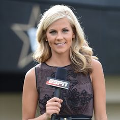 Samantha Ponder a sideline reporter working for ESPN; formerly known as Samantha Steele she is the wife of Christian Ponder the NFL quarterback. Girl Celebrities, Celebs, Samantha Ponder, Nfl Wives, Charissa Thompson, Wife And Girlfriend, Sports Women, Female Sports, Journaling