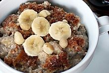 Overnight, Slow Cooker, Banana & Coconut Milk Steel-Cut Oatmeal. Looks ahh-mazing! Says its vegan but uses butter, so just replace using Earth Balance.