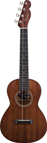 Fender Ukulele Hau'oli All laminate, Natural by Fender. $149.99. Fender brings you the authentic sound of the Hawaiian Islands with its first-ever series of ukulele models.  Ukuleles are enjoying renewed popularity, with exquisite sounds and designs that are a far cry from mere musical toys. Originally built by Portuguese immigrants to the Hawaiian Islands in the 1880s, the small guitar-like instruments produced a lilting sound that instantly evoked the lush South Pa...
