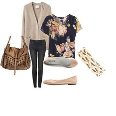 cute spring floral outfit