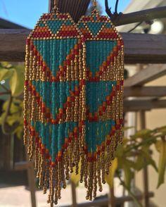 Blue Flame Earrings Native American inspired boho by TaurusHeart